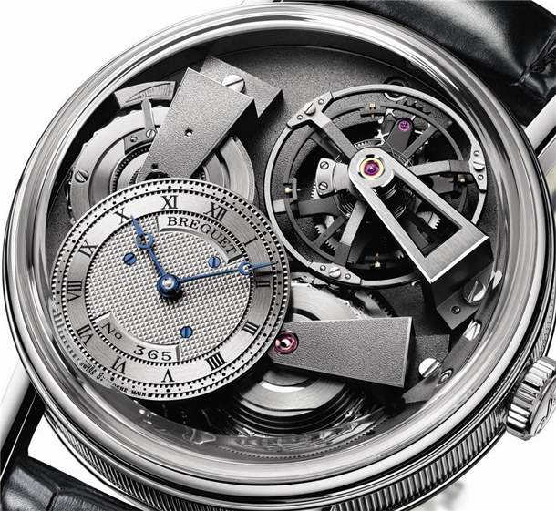 Breguet Tradition 7047PT/11/9ZU Fusee Tourbillon Close Up