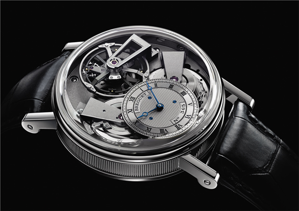 Breguet Tradition 7047PT/11/9ZU Fusee Tourbillon Side