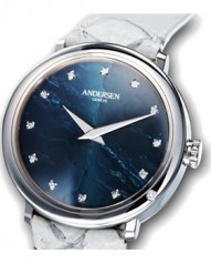Andersen Geneve » Gold Reminder » Or Gris » Or Gris Cadran Bleu