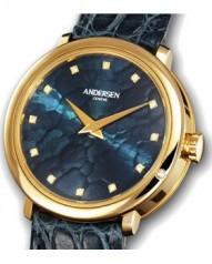Andersen Geneve » Gold Reminder » Or Jaune » Gold Reminder Or Jaune Cadran Bleu