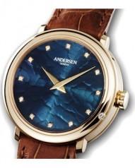 Andersen Geneve » Gold Reminder » Or Rose » Gold Reminder Or Rose Cadran Bleu