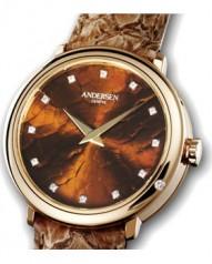Andersen Geneve » Gold Reminder » Or Rose » Gold Reminder Or Rose Cadran Cognac