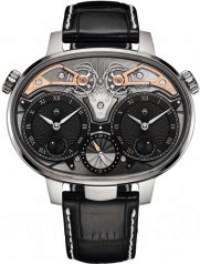 Armin Strom » Armin Strom » Dual Time Resonance Sapphire » Dual Time Resonance Titatium