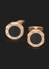 Audemars Piguet » Cufflinks » Royal Oak Cufflinks » Cufflinks Pink Gold Black Center