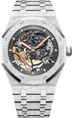 Audemars Piguet » Royal Oak » Double Balance Wheel Openworked » 15407BC.GG.1224BC.01