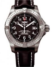 Breitling » _Archive » Aeromarine Avenger Seawolf Titanium » E1770C8 Black-BlLeath