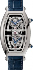 Cartier » Prive » Tonneau XL Skeleton Dual Time » WHTN0006