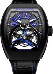 Franck Muller » Cintree Curvex » Gravity Skeleton » V 45 T GRAVITY NR Bleu