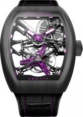 Franck Muller » Cintree Curvex » Gravity Skeleton » V45 T GRAVITY SQT P