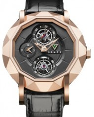 Graff » Technical » Mastergraff Double Tourbillon » Mastergraff Double Tourbillon GMT RG Black Dial