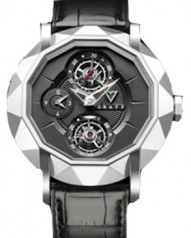 Graff » Technical » Mastergraff Double Tourbillon » Mastergraff Double Tourbillon GMT WG Black Dial