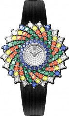 Harry Winston » Jewels That Tell Time » Winston Kaleidoscope High Jewelry Watch by Harry Winston » HJTQHM36PP003