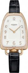 Hermes » Galop d'Hermes » Quartz 40.8 mm » Galop d'Hermes Diamonds RG Black Alligator