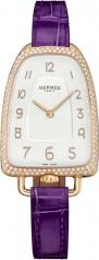Hermes » Galop d'Hermes » Quartz 40.8 mm » Galop d'Hermes Diamonds RG Blackcurrant Alligator