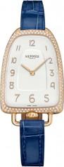 Hermes » Galop d'Hermes » Quartz 40.8 mm » Galop d'Hermes Diamonds RG Blue Alligator