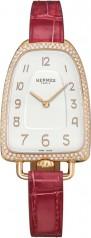 Hermes » Galop d'Hermes » Quartz 40.8 mm » Galop d'Hermes Diamonds RG Ember Alligator