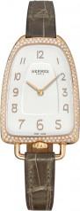 Hermes » Galop d'Hermes » Quartz 40.8 mm » Galop d'Hermes Diamonds RG Grey Alligator