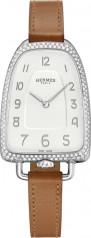 Hermes » Galop d'Hermes » Quartz 40.8 mm » Galop d'Hermes Diamonds Steel Barenia