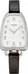 Hermes » Galop d'Hermes » Quartz 40.8 mm » Galop d'Hermes Diamonds Steel Black Barenia