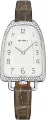 Hermes » Galop d'Hermes » Quartz 40.8 mm » Galop d'Hermes Diamonds Steel Grey Alligator
