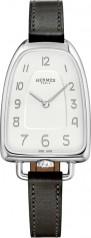Hermes » Galop d'Hermes » Quartz 40.8 mm » Galop d'Hermes Steel Black Barenia
