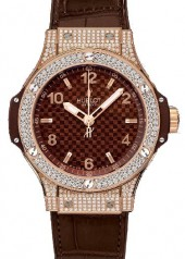 Hublot » _Archive » Big Bang 38mm Red Gold Cappuccino Diamonds » 361.PC.3380.LR.1704