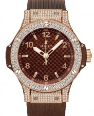 Hublot » _Archive » Big Bang 38mm Red Gold Cappuccino Diamonds » 361.PC.3380.RC.1704