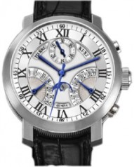 Pierre Kunz » Complication » Chronograph  Retrograde Seconds and Date Moon Phase G402 SDRL » G402 SDRL Pt White