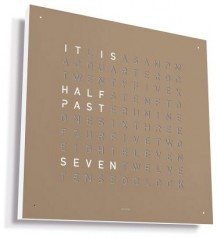 Qlocktwo » Table Clock » Classic » Hazelnut