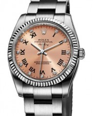Rolex » _Archive » Air-King 34mm Steel and White Gold » 114234 Pink D