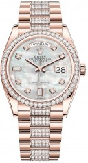 Rolex » Day-Date » Day-Date 36mm Everose Gold » 128345rbr-0030