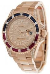 Rolex » GMT Master II » GMT Master II 40mm Everose Gold » 126755SARU PAVE
