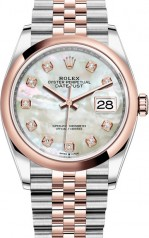 Rolex » Datejust » Datejust 36mm Steel and Everose Gold » 126201-0021