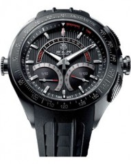 TAG Heuer » SLR » Calibre S Laptimer 1/100th Electro-Mechanical Chronograph 47 mm » CAG7010.FT6013