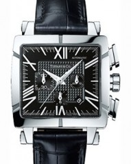 Tiffany & Co » Atlas » Chronograph Square » SS Black CL