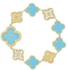 Van Cleef & Arpels » _Archive » Alhambra Vintage Bracelet » Sweet Alhambra Blue
