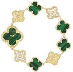 Van Cleef & Arpels » _Archive » Alhambra Vintage Bracelet » Sweet Alhambra Green