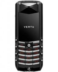 Vertu » _Archive » Ascent Ferrari Ceramic » Black PVD, Black Ceramic Pillow, Red Ferrari Engine Paint, Red and Black Ferrari Leather