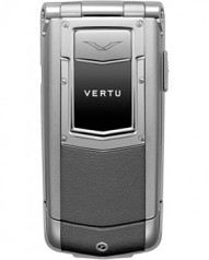 Vertu » _Archive » Ayxta Steel » Stainless Steel, Aluminium, Silver Ceramic Keys, Silver Metallic Leather