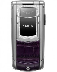 Vertu » _Archive » Ayxta Steel » Stainless Steel, Aluminium, Silver Sapphire Keys, Diamond Trim, Deep Purple Alligator Skin