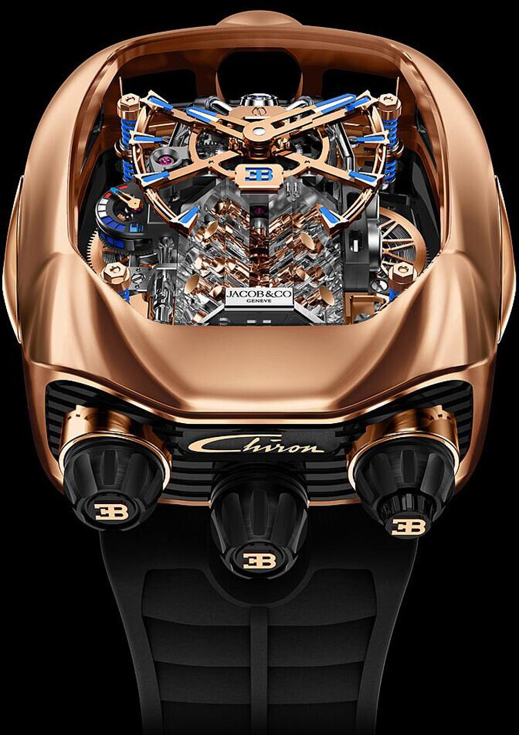 Jacob-Co Bugatti Chiron Tourbillon Timepiece Limited Editions-3