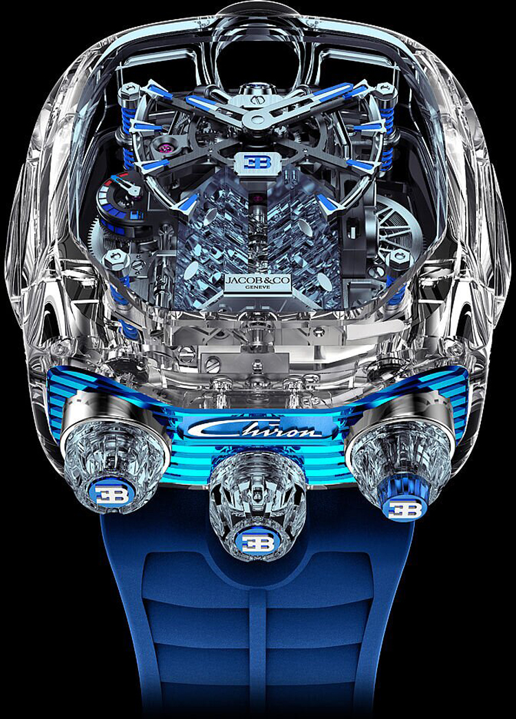 Jacob-Co Bugatti Chiron Tourbillon Timepiece Limited Editions-4