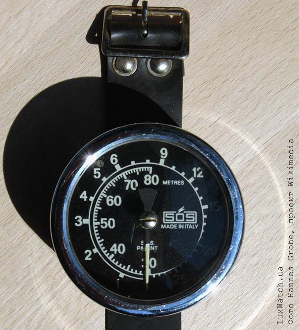 Диафрагменный глубиномер, рассчитанный на измерение глубин в диапазоне 0-80 метров