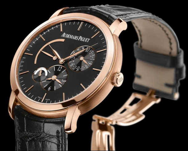 audemars-piguet-jules-audemars-dual-time-black-pink-gold