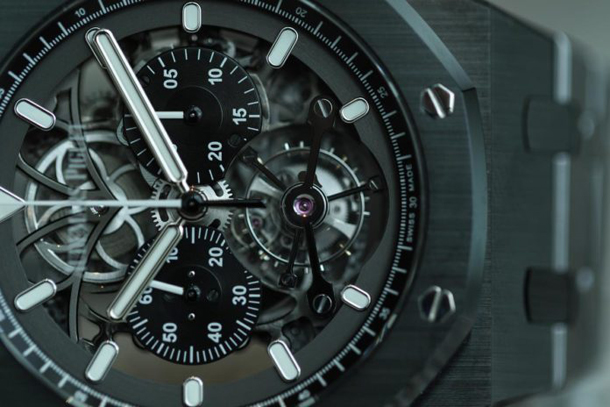 Audemars Piguet Royal Oak Tourbillon Chronograph Openworked Black Ceramic-2
