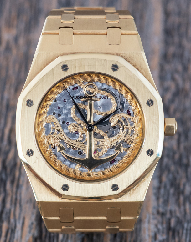 Audemars Piguet Royal Oak With Gold Relief Dial-1