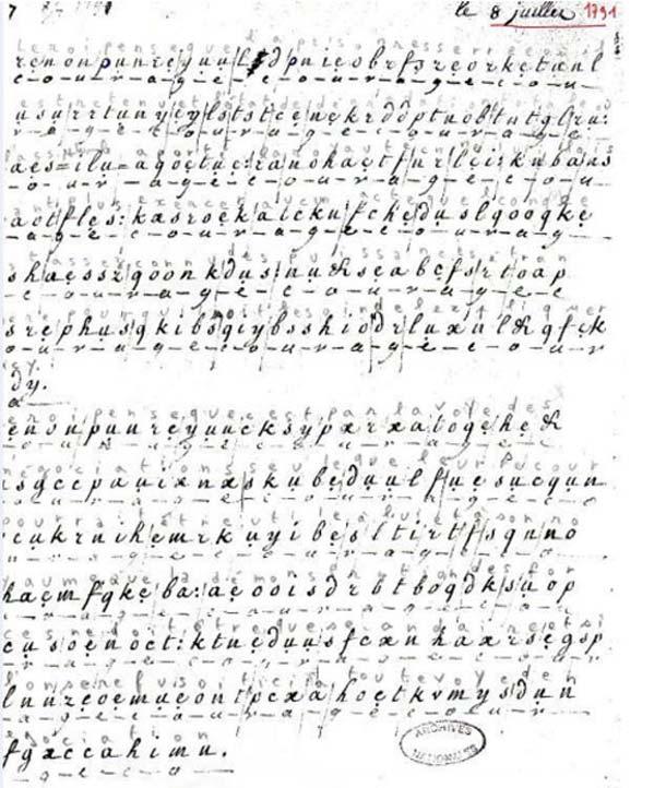 Marie-Antoinette-coded-letter