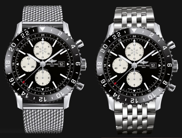 Breitling-Chronoliner-on-different-bracelets
