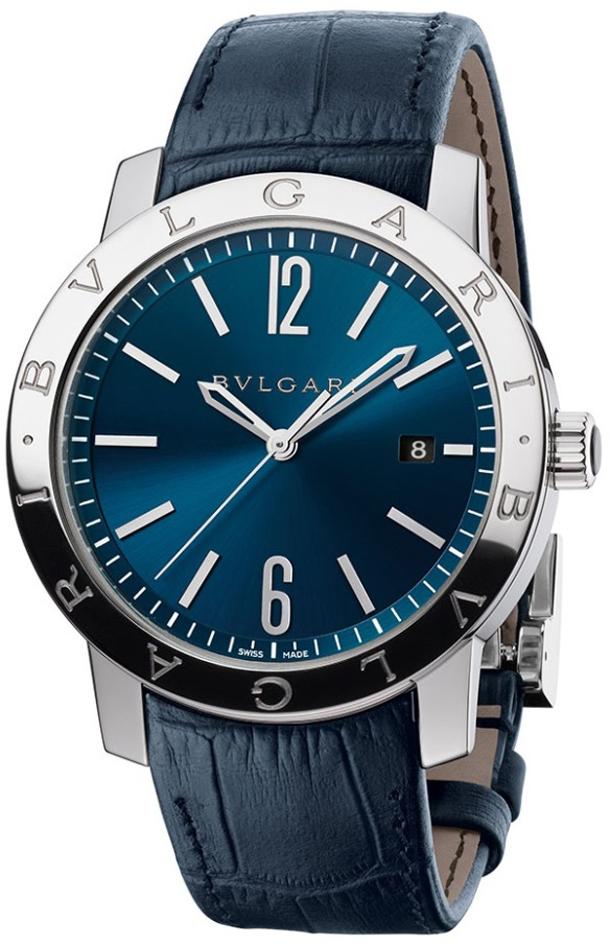 Bulgari-Bulgari-Sapphire-Blue-Dial-Watche-on-strap