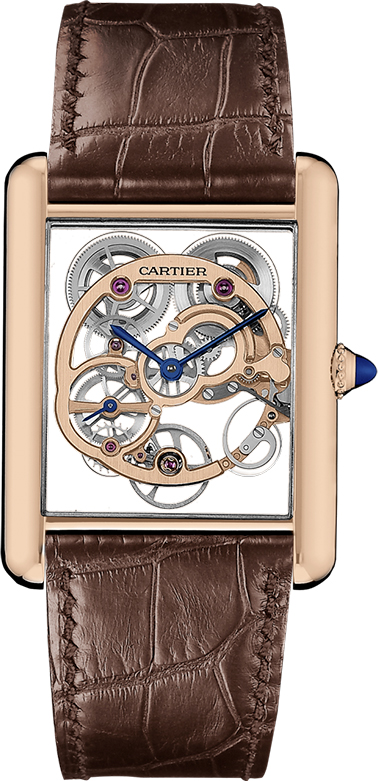 CARTIER-TANK-LOUIS-CARTIER-SKELETON-SAPPHIRE-WATCH-Pink-gold